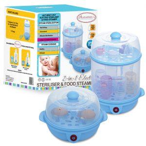 Autumnz 2-in-1 Electric Steriliser & Food Steamer (Blue)