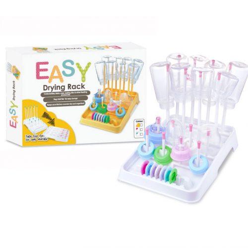 EASY Bottle Drying Rack White/Pink