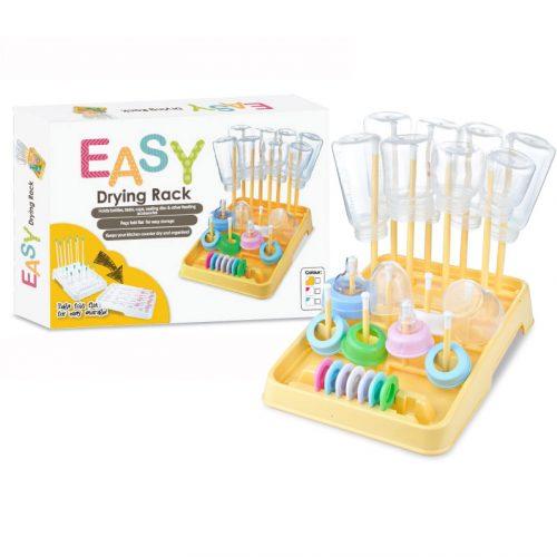 EASY bottle drying rack yellow