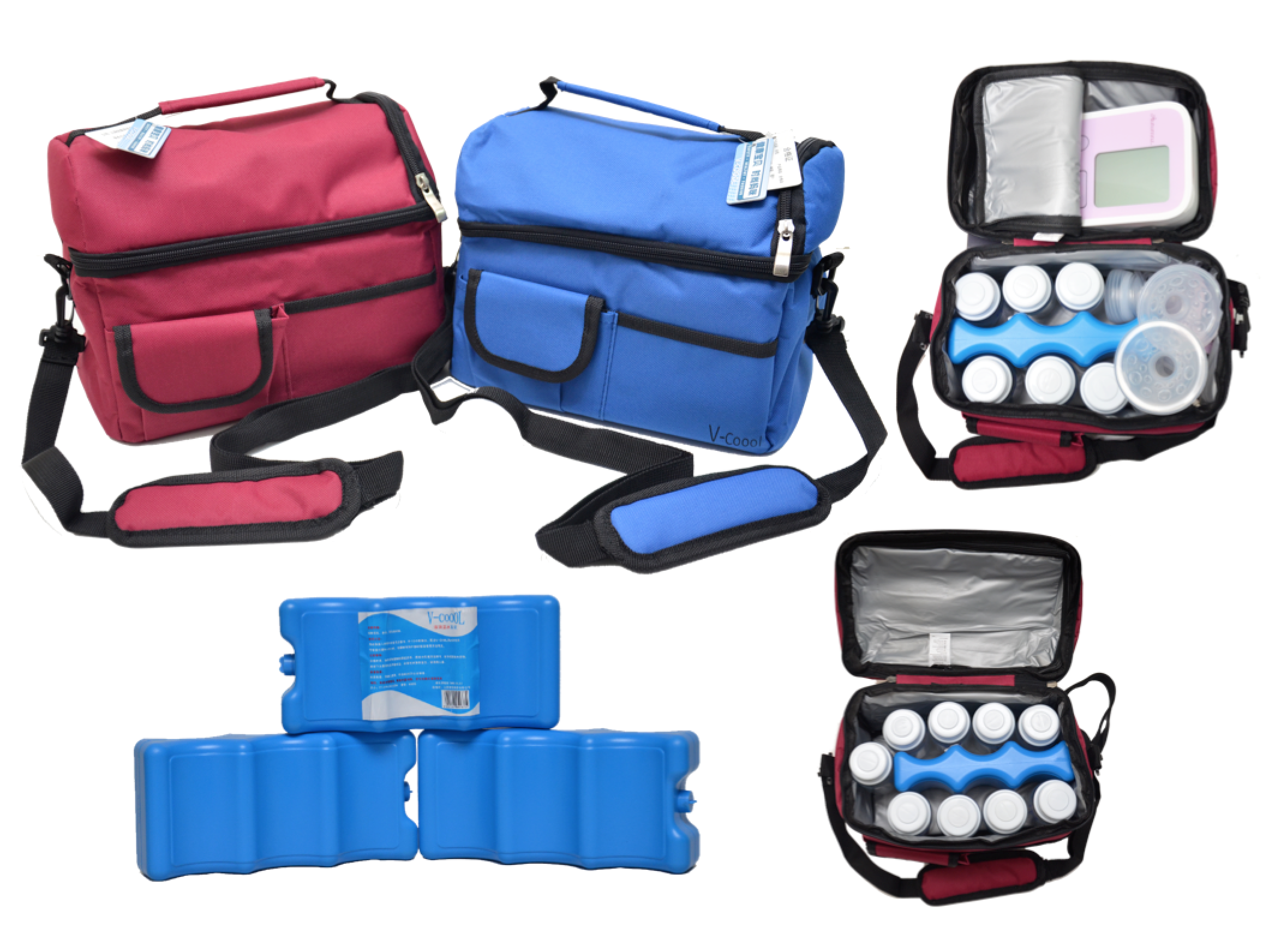 Pumponthego Combo V Cool Cooler Bag And Ice Brick