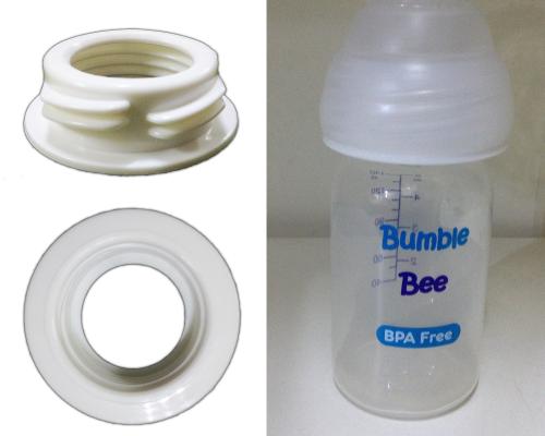 Wide to standard neck bottle adapter
