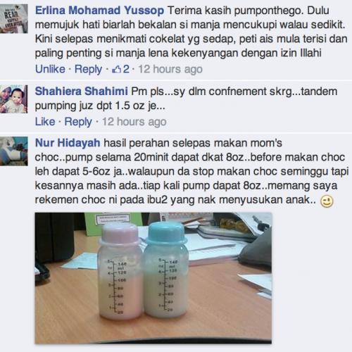 Mom's Milk Booster Moms Chocolate Testimonial