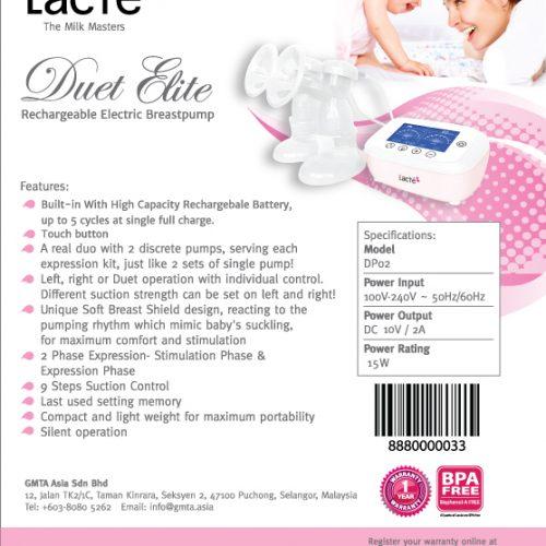 Lacte Duet Elite Breast Pump