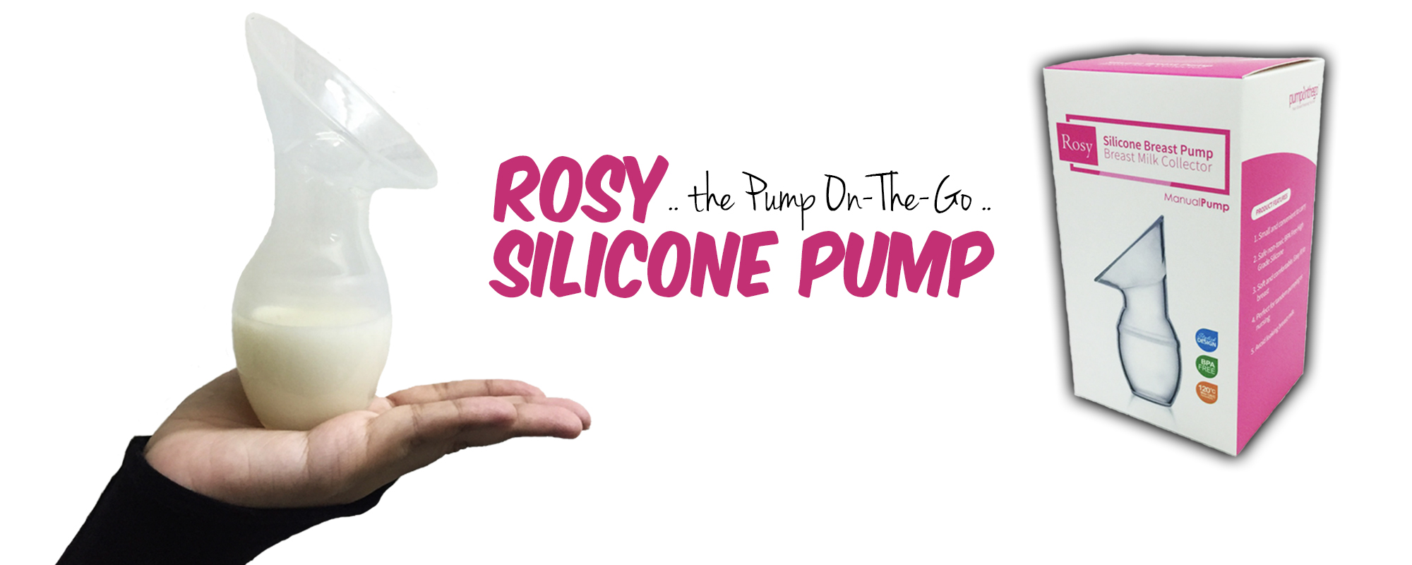 POTG ROSY MANUAL SILICONE BREAST PUMP