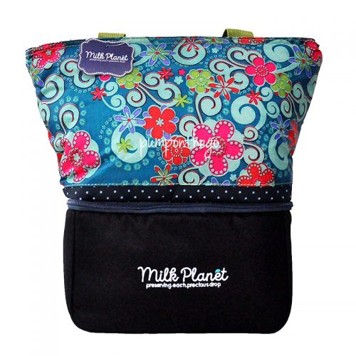 Milk Planet Signature Cooler Bag Green Floral