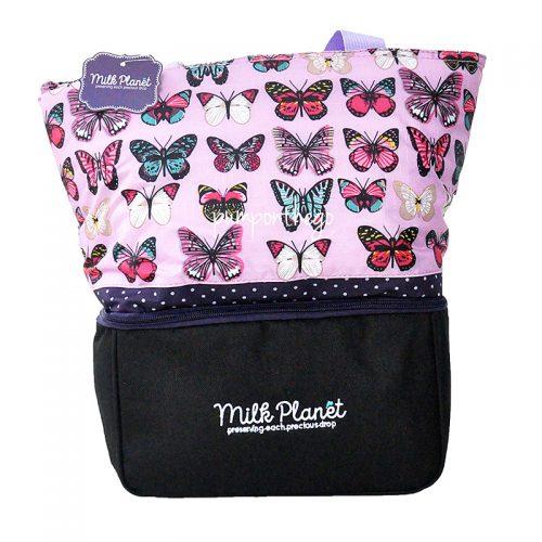 Milk Planet Signature Cooler Bag Lavender Butterfly