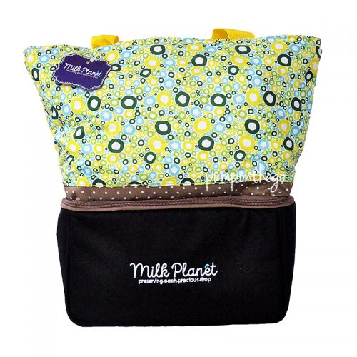 Milk Planet Signature Cooler Bag Yellow Polka
