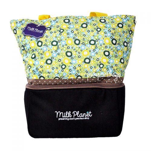 Milk Planet Signature Cooler Bag Yellow Polka