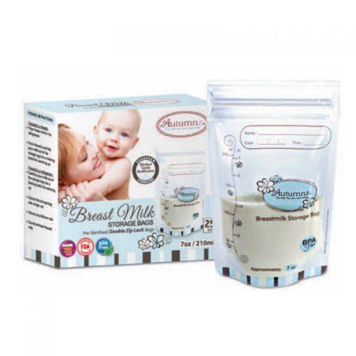 Autumnz Double ZipLock Breastmilk Storage Bag (25 bags) *7oz*