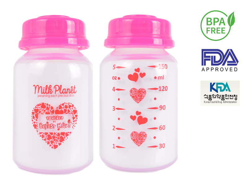 Milk Planet Storage Bottles