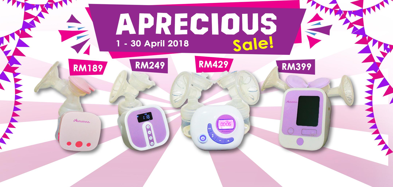 PumpOnTheGo April Aprecious Sale 2018