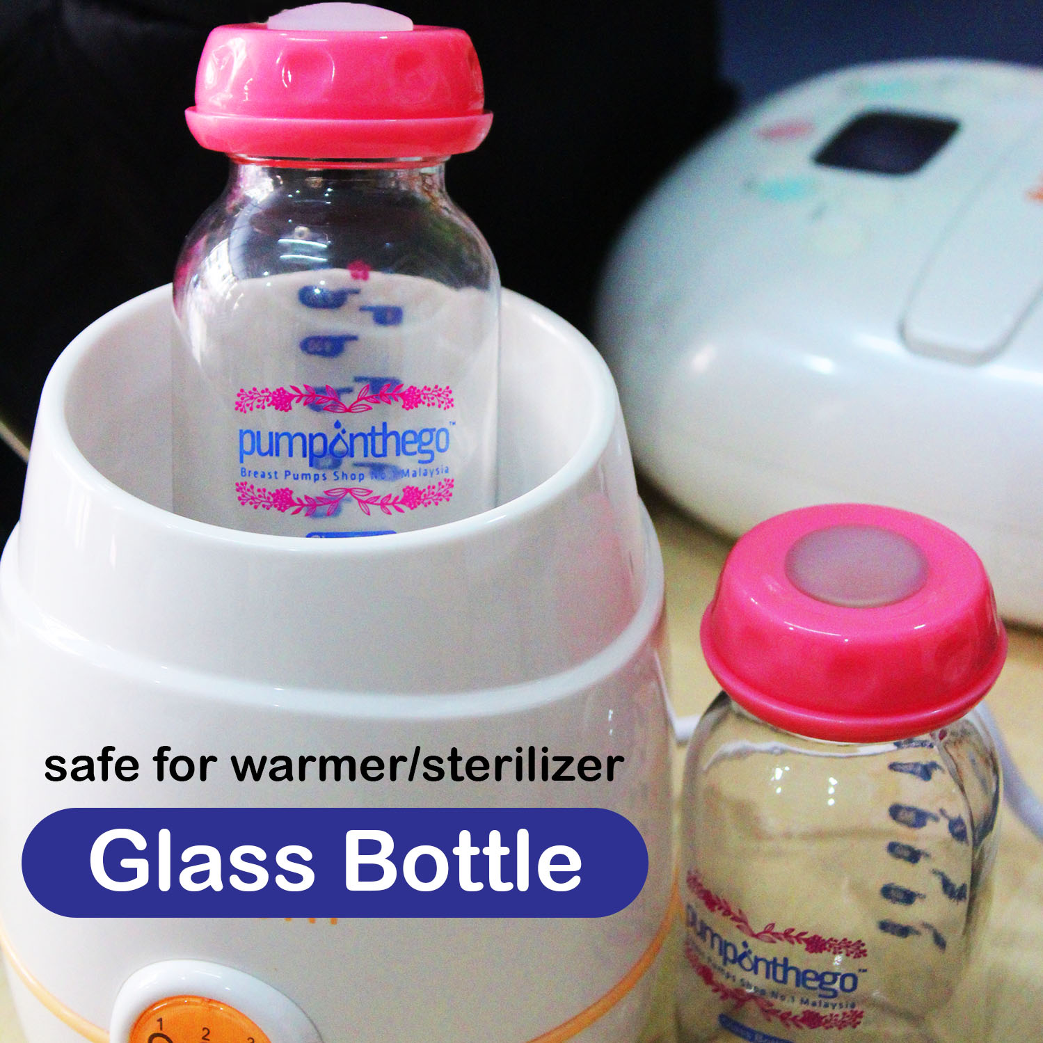 PumpOnTheGo Glass Storage Bottle