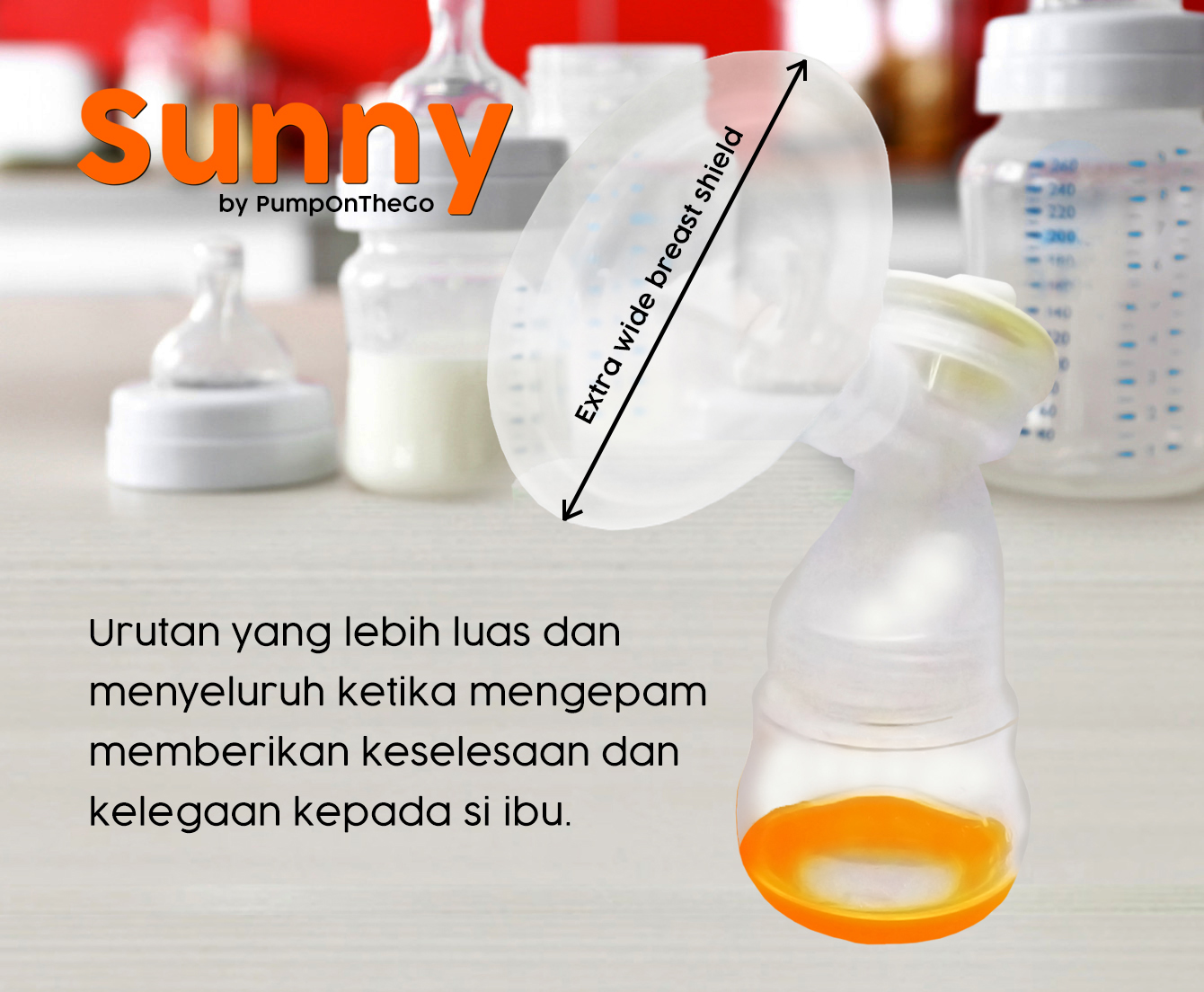 PumpOnTheGo Sunny Breast Pump